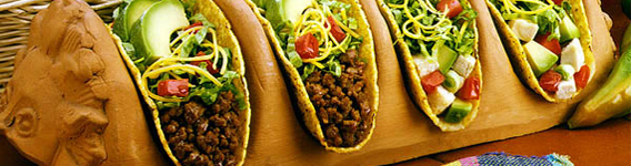 Mobile taco banner